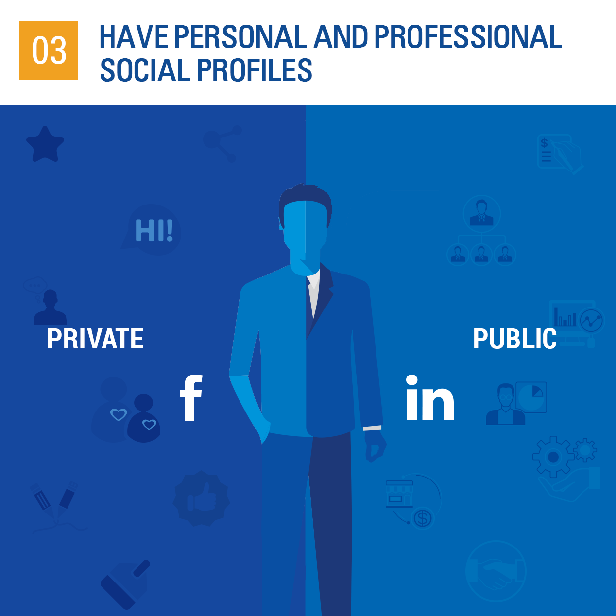 personal and professional social profiles
